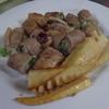 幸運な病のレシピ( 2085 )朝:後片付けを科学する、アスパラの豚巻き、味噌汁、マユのご飯
