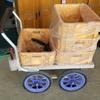 きゅうり栽培向けのアルミ製収穫台車