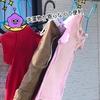 風で洗濯物がかたよらない杉山金属の「洗濯リング」物干し竿に後付け!ハンガー干しの多い方にはおすすめです。