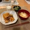 ごはん、大根と鶏肉ステーキ、きゅうりワカメ寒天のサラダ、豆腐の味噌汁