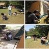 一家で初キャンプ@須ノ川(愛南町/旧内海村)