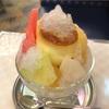 大阪なんば「純喫茶アメリカン」で食べたプリンのかき氷