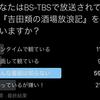 【アンケート!】あなたはBS-TBSで放送されている『吉田類の酒場放浪記』を観ていますか?