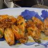 幸運な病のレシピ( 2079 )夜:ヒレカツ、鳥ムネカツ、手羽先二度揚(甘酢紫蘇)、汁(青梗菜と牛肉)
