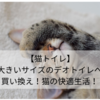 【猫トイレ】大きいサイズのデオトイレへ買い換え!猫の快適生活!