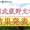 第1回 角川武蔵野文学賞 最終選考結果を発表しました