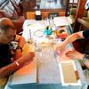 金曜のカフェタイムは…福丸珈琲で手作りBOOK講座
