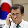 米韓首脳が電話協議 北朝鮮への圧力強化で一致