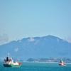梧桐島(オドンド)に架る橋を渡り、島の先の埠頭からの眺望~ここも麗水(ヨス)の絶景ポイント!!