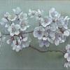 季節外れですが、絹本に描いた桜
