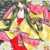「白菊の姫」色鉛筆&鉛筆オリジナル平安イラスト:GO TO使わなきゃ損らしいけど使えないんだよぉ