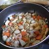 幸運な病のレシピ( 1135 )朝 :煮しめ(大根なし、里芋メイン)、鮭、味噌汁