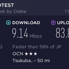 OCN光評判レビュー スピードテスト