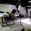 スタジオ撮影!今回はケンコー・トキナーさんのレンタルスタジオを利用させていただいた。