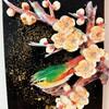 梅にウグイス(ピアノの廃材利用)
