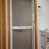 浴室ドア 割れたパネル交換