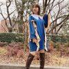 柏木由紀、絶対領域チラリなミニワンピ姿「女神みたいだ」「スタイル良すぎる」