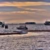 パタヤビーチの夕陽~再び 毎日違うシルエットを見ることが出来ます。。。