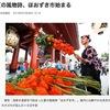 カガチ/ホオズキ(2) 「その目はアカカガチのごとくに赤く燃えて---」古事記の時代から,日本人に親しまれてきたホオズキ.浅草寺ほおずき市には,今も多くの人々が集っています.  今年,主催者予想の段階で55万人/二日間.起源は明和年間(1764〜72)で,四万六千日縁日の一大イベント.京都清水寺の千日詣りでもホオズキが飾られていましたが,何か特別な意味がある?/ ホオズキ属はトウガラシ属と近縁.食べられるホオズキも何種かあります.植物をたどって古事記を読む(16)