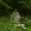 金刀比羅神社の駐車場入口にまつられる庚申塔 福岡県福津市在自