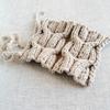 メランジの余り糸でニット帽を編み始める