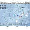 2017年09月06日 10時40分 トカラ列島近海でM3.9の地震