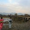 京都 雨上がりの嵐山は夕方から冷え込んですっごく寒い!何で花灯路は毎年12月なんだろう?