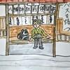 中山道絵手紙の2(八幡宿から大井宿)