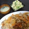 白菜あんかけ炒め、キャベツサラダ、味噌汁