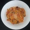 ホットクック 試作レシピ 調味料塩だけで作るサバ缶とトマト缶の無水ナポリタン