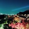 【秋の京都】清水寺ライトアップ、紅葉と夜景のコラボレーション