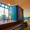 ひしゃくでアロマ水をかけられる小さなサウナ小屋が素敵「おふろcafe utatane」@大宮