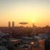 未確認飛行物体(UFO)にどう対処するのかを話す河野防衛相??