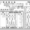 プリモ・ジャパン株式会社 第3期決算公告