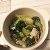 チンゲン菜とベーコンの炒め物