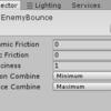 【Unity】ゲームオブジェクトを自動で動かし、オブジェクトに当たると反射する方法