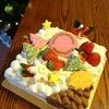 一足早いクリスマスパーティー  (*^▽^)/★*☆♪  クリスマスツリーケーキとアイシングクッキー♪♪