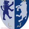 ライオンと牛の紋章