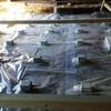 防水土間シートを敷く作業