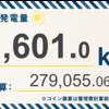 5/31〜6/6の総発電量は11,601.0kWh(目標比100%)でした!