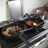 幸運な病のレシピ( 710 )朝:煮しめ(鳥とパンナメエビの団子)、イワシ丸干し、ししゃも、モツのトリッパ風