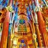 ガウディの建築物の写真を鈴木英人風イラストに加工してみた
