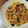 ハラペーニョとキノコのスパゲッティ