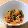 かぼちゃと人参のそぼろ煮&簡単!春雨とわかめのシャンタンスープ