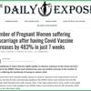 【英国医薬品・医療製品規制庁データ】新型コロナワクチン接種後、流産に苦しむ妊婦の数が7週間で483%増加