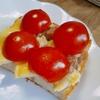 【ベーコンエッグ+ミニトマト】トースト
