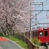 養老鉄道 東赤坂駅の さくらトンネル