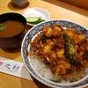 【之村(ゆきむら)@新橋】天ぷら屋の海老たっぷりのかき揚げ丼。ご飯が進むタレも最高!!【かき揚げ丼】
