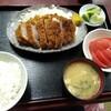 西川口の「あおき食堂」さんで厚切りロースカツ定食を食べました★