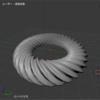 Blender でカーブを利用してフレンチクルーラーを作る